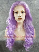 N7-TF2403A Beautiful girl top quality gray new style light purple violet synthetic lace front wig party queen wig