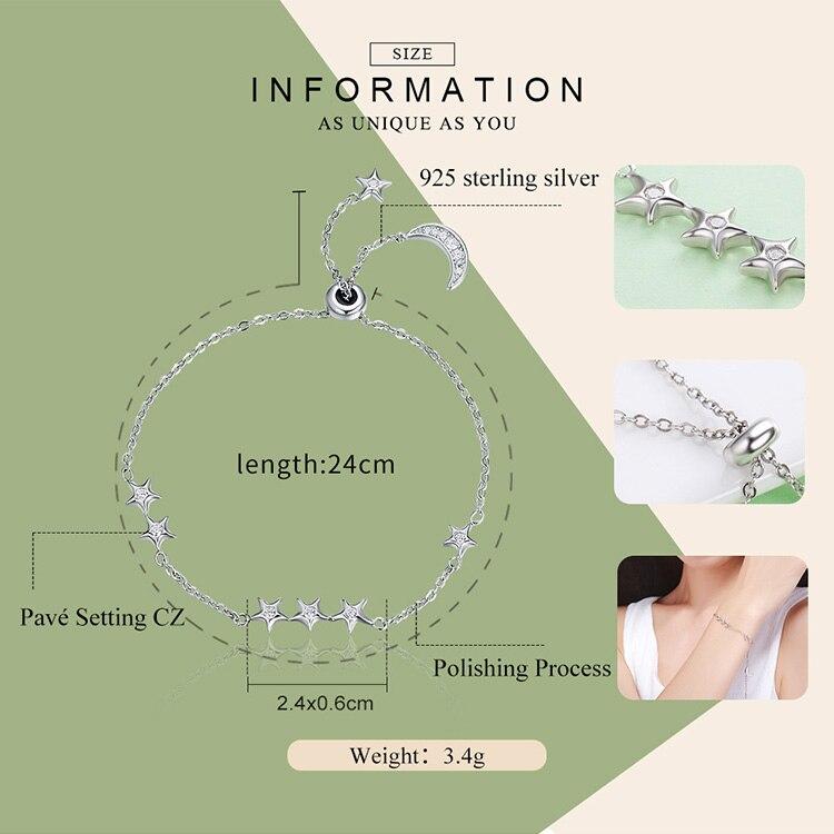 HTB1PJQAjjihSKJjy0Feq6zJtpXac 925 Sterling Silver Sparkling Tennis Bracelet Chain Strand Bracelets for Women Luxury Original Sterling Silver Jewelry GXB029