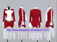 Free shipping Custom Cheap Alice Cosplay Costume (Red) from Pandora Hearts Anime clothing