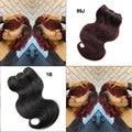 8inch 4Pcs 200g Top Brazilian Virgin Hair Body Wave Human Hair Extensions Burgundy 99J Short Hair Bundles Trendy Bob Hairstyles