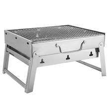 Bbq Charcoal Grills For Barbecue & Silver Outdoor Stainless Steel Hiking Charcoal Camping Grill 21inch durable barbecue grill for outdoor bbq grill with charcoal bbq smoker charcoal smoked barbecue stove