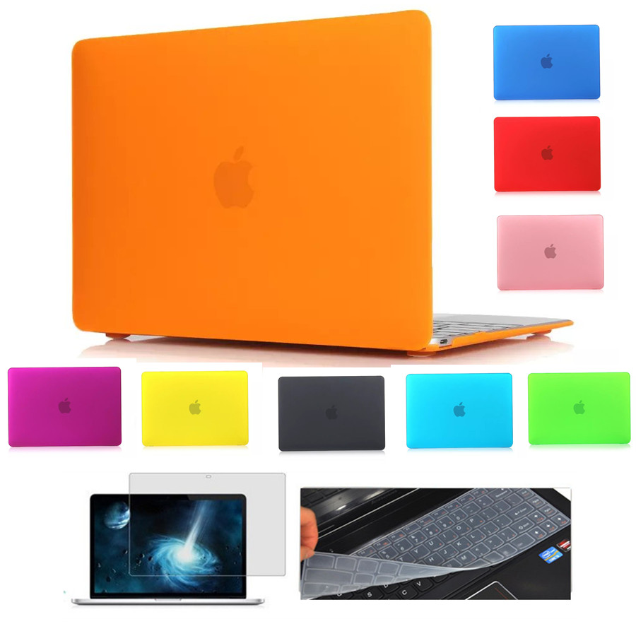 High quality matte laptop Case For Macbook Air 11 13 Pro 13 15 Pro Retina 12 13 15 inch matte case + Keyboard Cover + Film ...