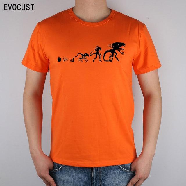 1cf1db2c alien evolution Alien Vs Predator Comic Art AVP commission T-shirt Top  Lycra Cotton Men T shirt