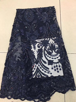 Latest Top African French Lace Fabrics High Quality Sequins Popular Floral Patterns Nigerian Lace Luxury Wedding