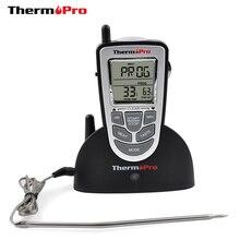 ThermoPro TP 09 300ft الرقمية الطبخ ترمومتر لاسلكي ميزان لحوم الشواء المطبخ ميزان حرارة فرن مسبار من الفولاذ المقاوم للصدأ