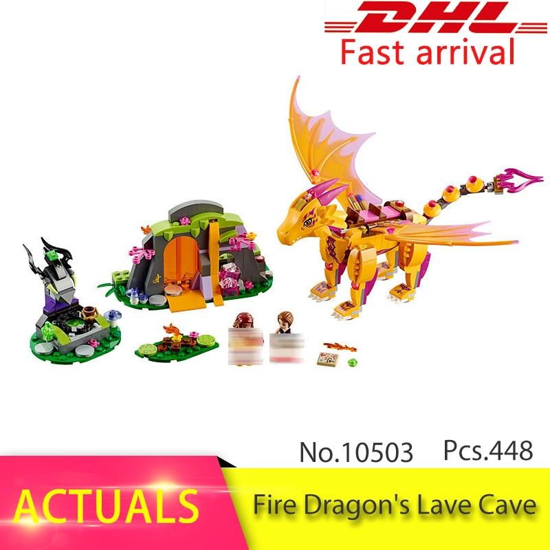41175 Elfes Feu Dragon Lave Grotte Compatible avec 10503 Building Block set Briques de Fée Jouet Éducatif pour Enfants