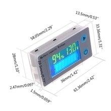Voltímetro de capacidad de batería Universal de 10 100V, indicador LCD de plomo ácido para coche