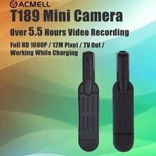 T189 Mini Câmera Mais de 5.5 Horas de Tempo de Trabalho Micro Kamera 12MP Full HD 1080 P Camera Pen Gravador de Voz Câmera de Vídeo Digital DVR