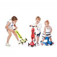 Детей скутер для 1 5 лет Регулируемая Т бар открытый игрушка баланс упражнение самокат + баланс автомобиля + Walker