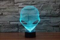7 Kolory Magia UFO Alien VS Predator AVP Led Zabawki Blizna Predator Obcy Action Figures Produkt 3D Lampa Stołowa Zabawki Zabawny Prezent