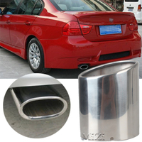1pcs Car Exhaust Muffler Tip Pipes Stainless Steel For BMW E90 E91 E92 E93 318i 318d