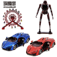 Colorful Super Sports Car Rotating Ferris Wheel 3D Metal Kits Model Puzzle DIY Collection Birthday Gift