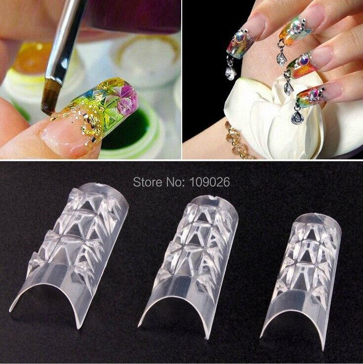 70 шт+ коробка французский стиль накладные ногти Цветная глазурь модель ногтей/прозрачный кристалл форма