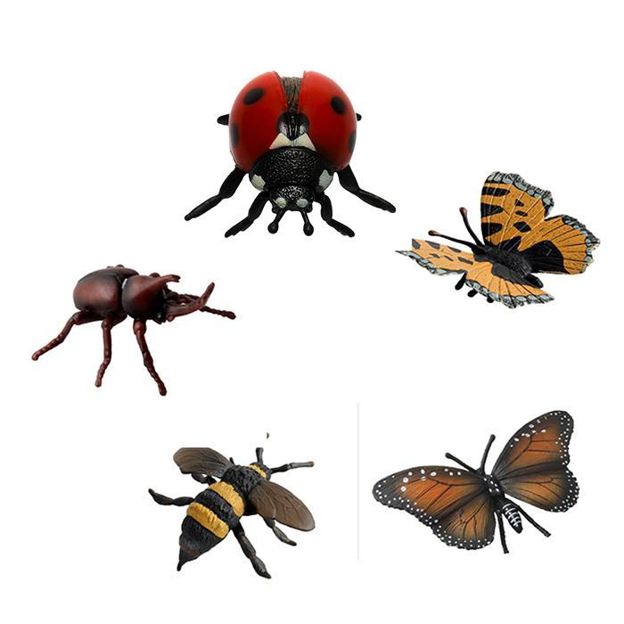 Simulation Plastic Bug Figurines Unicorn Model-Insects Playset Toy Kids Gift
