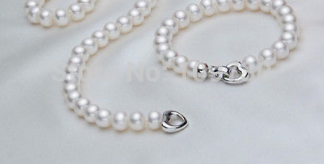 Jewelry 00722 AAA 8-9mm White Set Akoya Cultured Pearl NecklaceJewelry 00722 AAA 8-9mm White Set Akoya Cultured Pearl Necklace