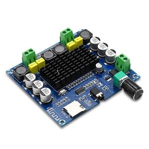 Image 1 - TDA7498 Bluetooth 5.0 Bordo Dellamplificatore di Potenza Digitale Esperienza HD carta di TF di Sostegno AUX Dual Channel 100W * 2 Audio amplificatore Stereo