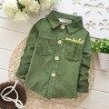 2016 Spring and Autumn Children's Fashion shirts,Baby Boys Long sleeve shirt,V1024B