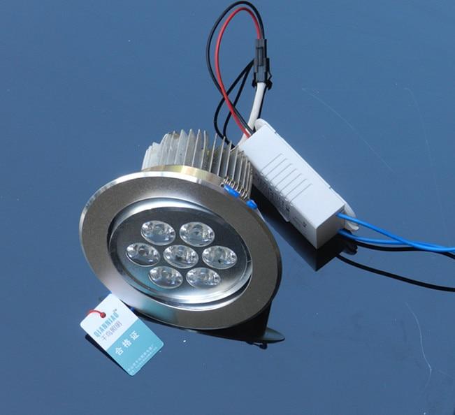 7-LED 85~265V Better led chips 7W warm white/White light 700LM led downlight lamp ,30pcs/lot free shipping of FEDEX/DHL/UPS