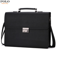 VICUNA POLO New Arrival 2017 Business Mens Briefcase Unique Anti theft Lock Male Laptop Bag bolsa masculina Brand Man Handbags