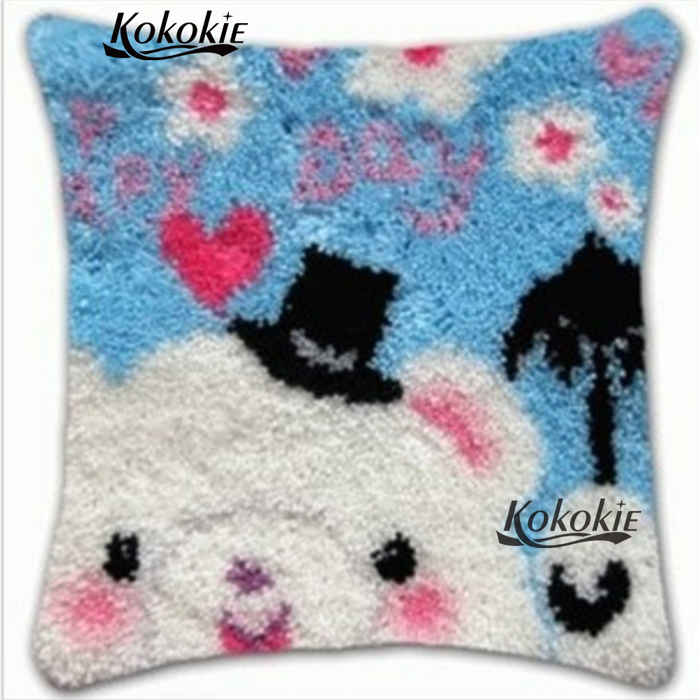 Latch Hook Pillow cross stitch kits embroidery needlework sets Crocheting Rug Yarn Cushion Mat 3d handmade PillowcaseLatch Hook Pillow cross stitch kits embroidery needlework sets Crocheting Rug Yarn Cushion Mat 3d handmade Pillowcase