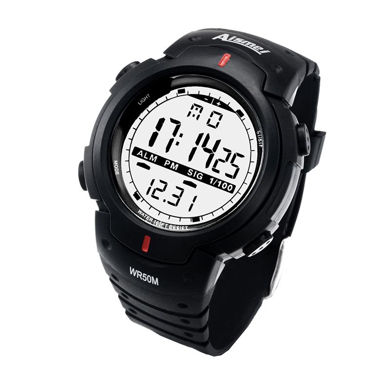 Prix pour Nouveau 2016 plongée militaire montres relogio masculino numérique montre homme montres homme horloge pour cadeau hommes montres de sport