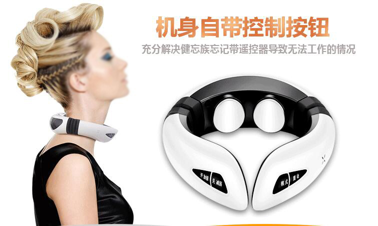 3d Beating Kneading Cervical Neck Massager Electric Acupuncture Meridian Magnet Therapy Health Health Care Wireless Control healthcare gynecological multifunction treat for cervical erosion private health women laser device