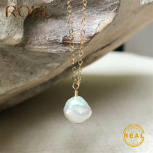 ROXI Real Natural Freshwater Pearl Necklace Irregular Baroque Pearl Pendant Necklace Women Jewelry Gift Long Statement Necklace недорого
