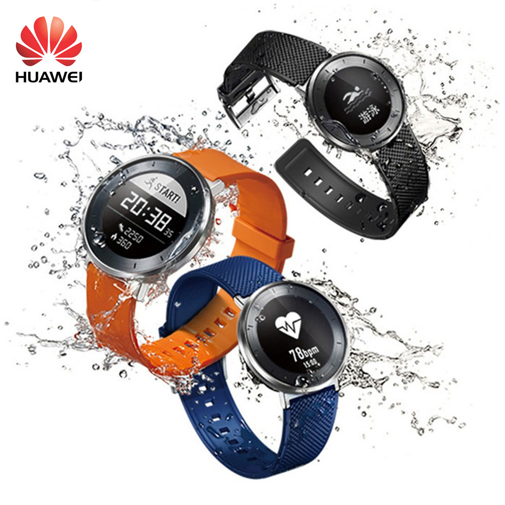 Original Huawei S1 Smart Watch Heart Rate Monitor 5ATM Swimming Long Battery Fit Tracker Bluetooth 5ATM Waterproof Honor Watch бумага hi black a200102u a4 230г м2 глянцевая односторонняя 100л h230 a4 100