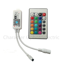 5 PCS DC12V Mini Wifi RGB/RGBW Led Controller + IR 24 Key Remote for 5050 RGB / RGBW LED Strip
