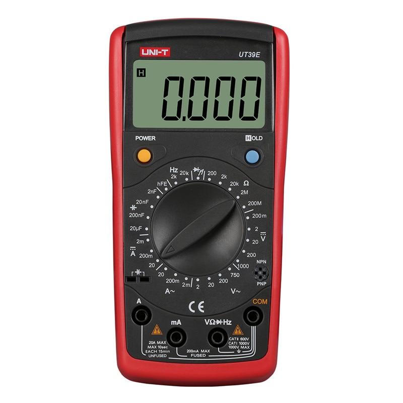 UNI-T multimeter tester UT39E High-precision Digital Multimeter AC DC Volt Amp Ohm Capacitance Temp LCR Meter multimeter unit мультиметр uni t uni t ut71b alicate amperimetro ac dc