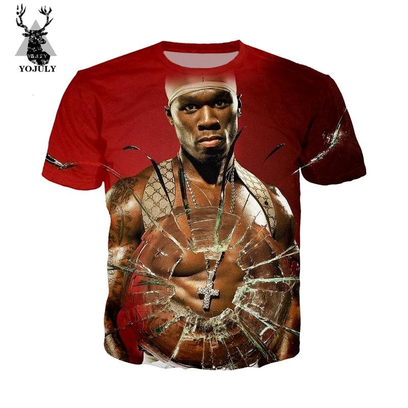New Fashion Women//Men Singer 50 Cent Funny 3D Print Casual T-Shirt 2249