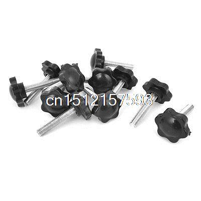 12pcs 25mm Star Head Dia Replacement 6mm x 30mm Clamping Screw Knob Grip часы радо dia star
