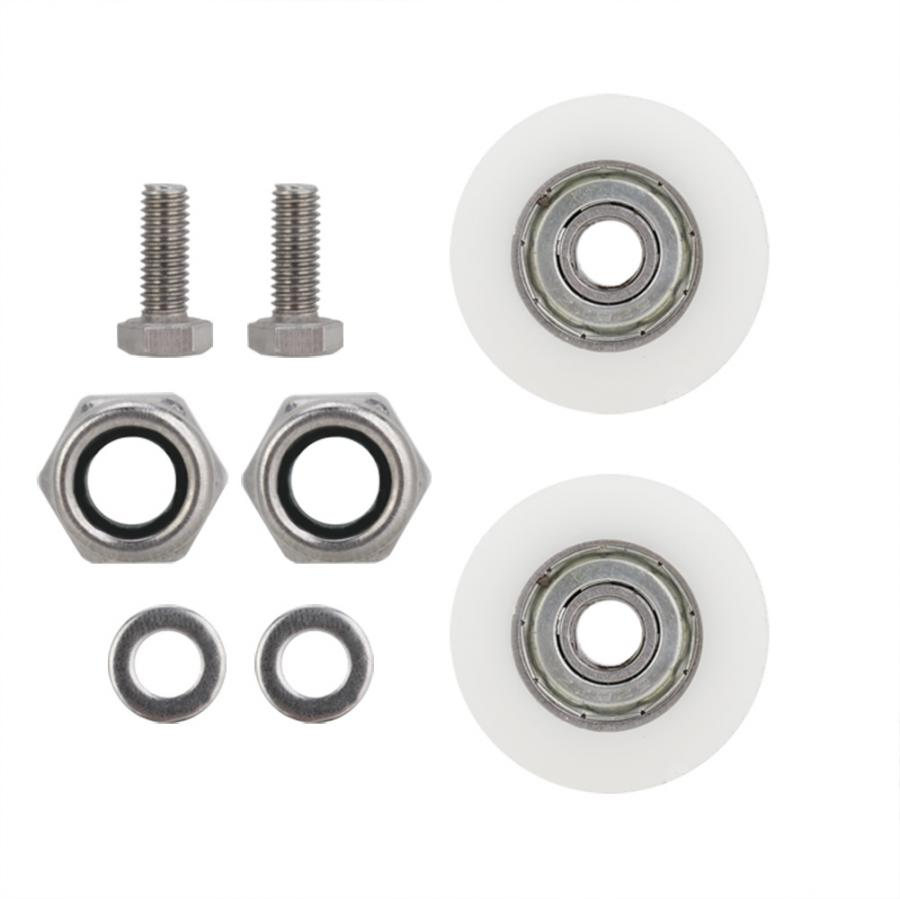30mm Diameter Elite Greenhouse Door Wheels Replacement Kit Bath Cabinet Roller Wheel Shower Room Accessories Rollers Hardware
