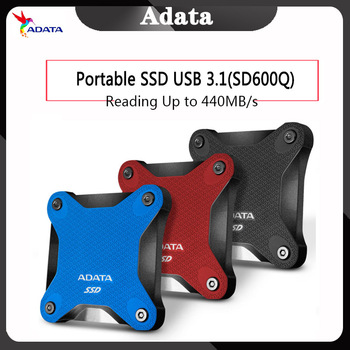 ADATA Portable SSD 240 GB 480GB 3D NAND 960GB USB3.1 Ultra-Speed External Solid State Drive Read up to 440 MB/s SD600Q