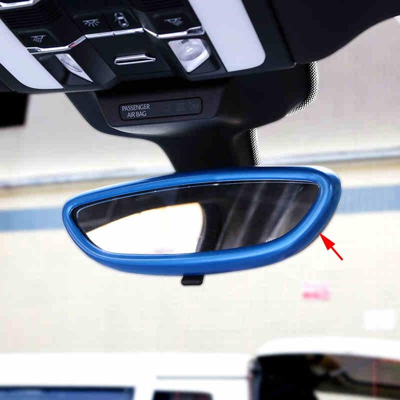 Revêtement d'habillage de moulage intérieur de miroir de vue arrière d'abs de Chrome pour Porsche Macan 2015-2016