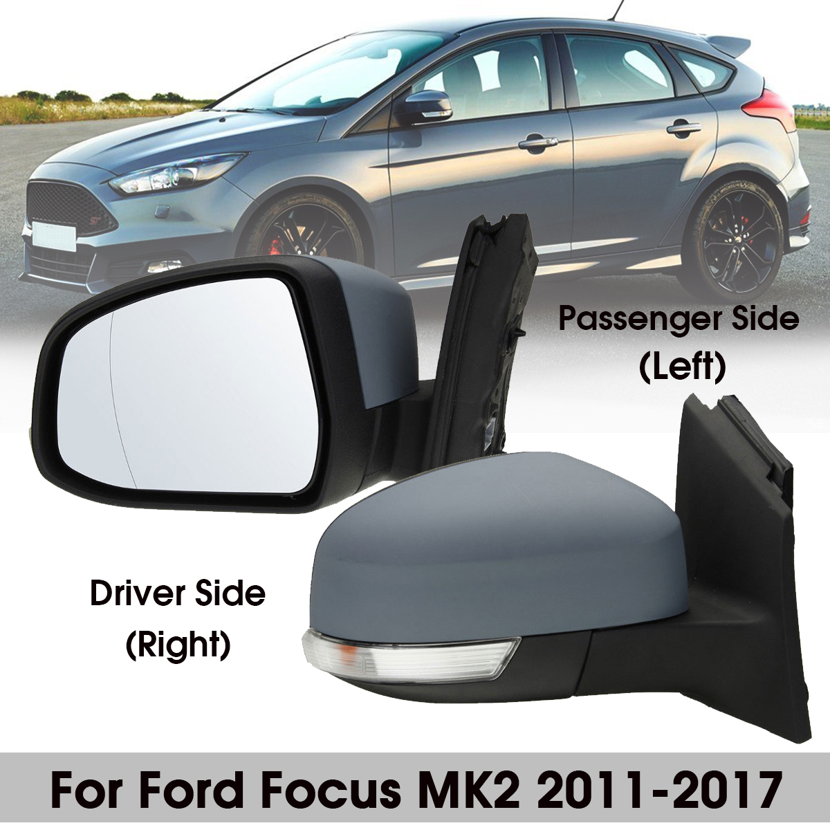 Right Driver Side Wing Door Mirror Glass for KIA Picanto 2008-2011