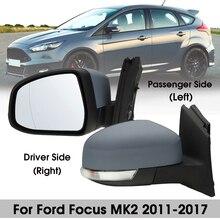Двери автомобиля Электрический крыло зеркало водителя/пассажирская сторона для Ford Focus MK2 2008 2009 2010 2011
