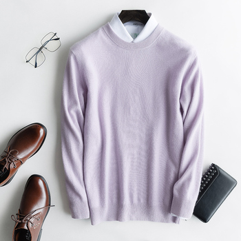 100% Pure Cashmere Knitted Pullover Man Oneck Long Sleeve Sweater Male Clothes 12Colors High Quality Men Sweaters Jumpers Tops