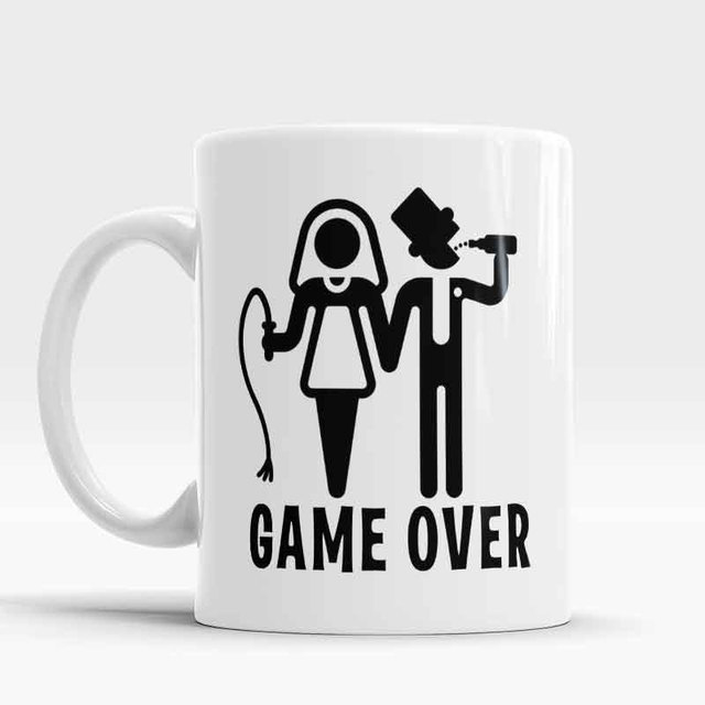 office cups. Game Over Mugs Husband Wife Couple Cups Office Cup Porcelain Coffee Ceramic Tea