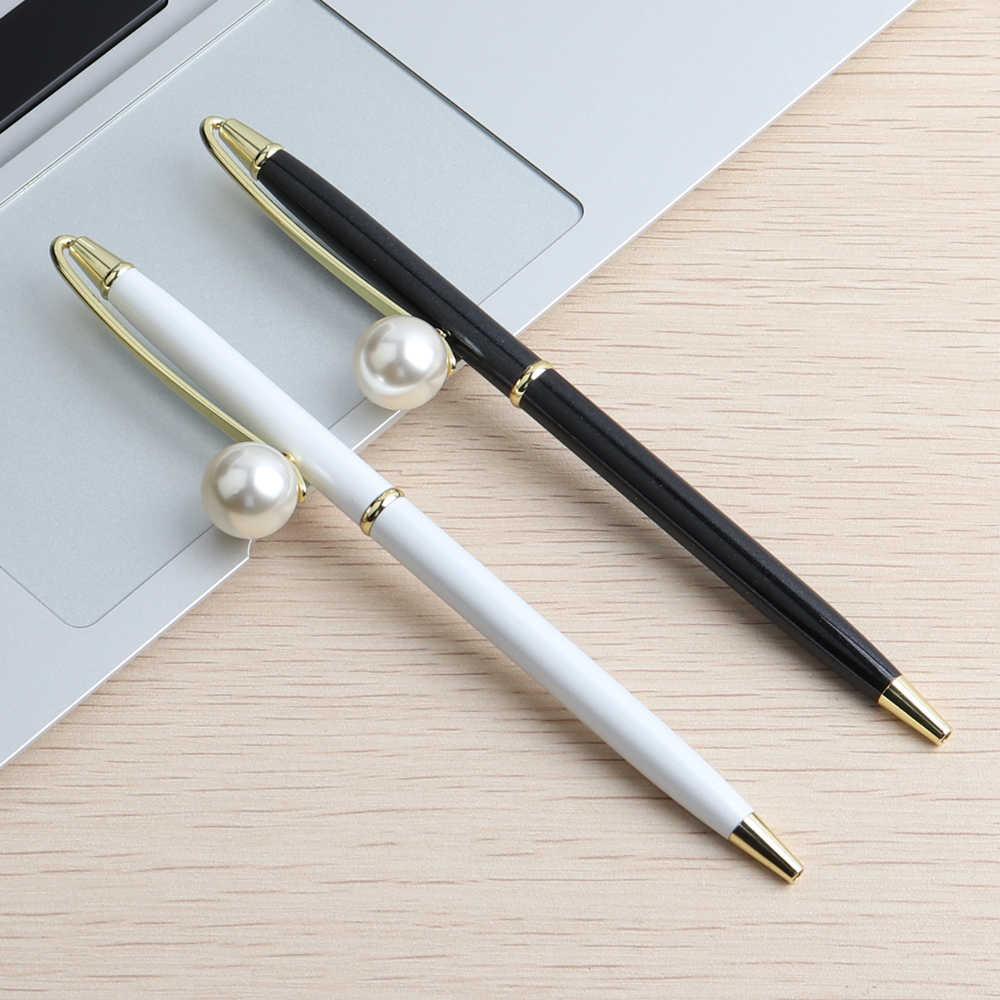 Pióro Baikingift w nowym stylu perłowego długopisu materiał metaliczny obraca się długopis dla uczniów szkół biurowych z upominkami