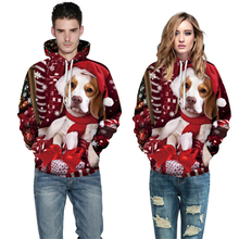 ZOGAA Unisex 3D Hoodies Men Women Casual Loose Christmas Series Pullovers Printed Hooded Sweatshirts Couple