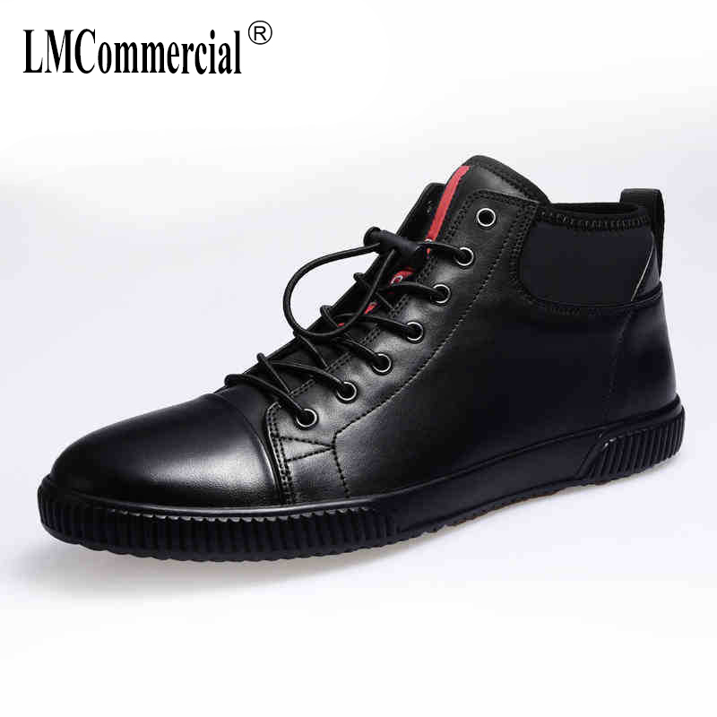 men's leather casual shoes new autumn winter British retro men's boots British Martins boots men boots all-match cowhide Leisure 2017 new autumn winter british retro men shoes zipper leather shoes breathable fashion boots men casual shoes handmade f