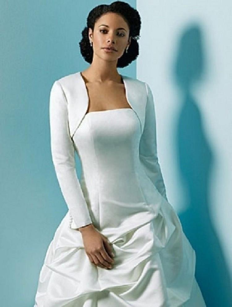 2015 100 nouveau blanc et ivoire de marie en satin veste de mariage bolero pour - Bolero Mariage Blanc