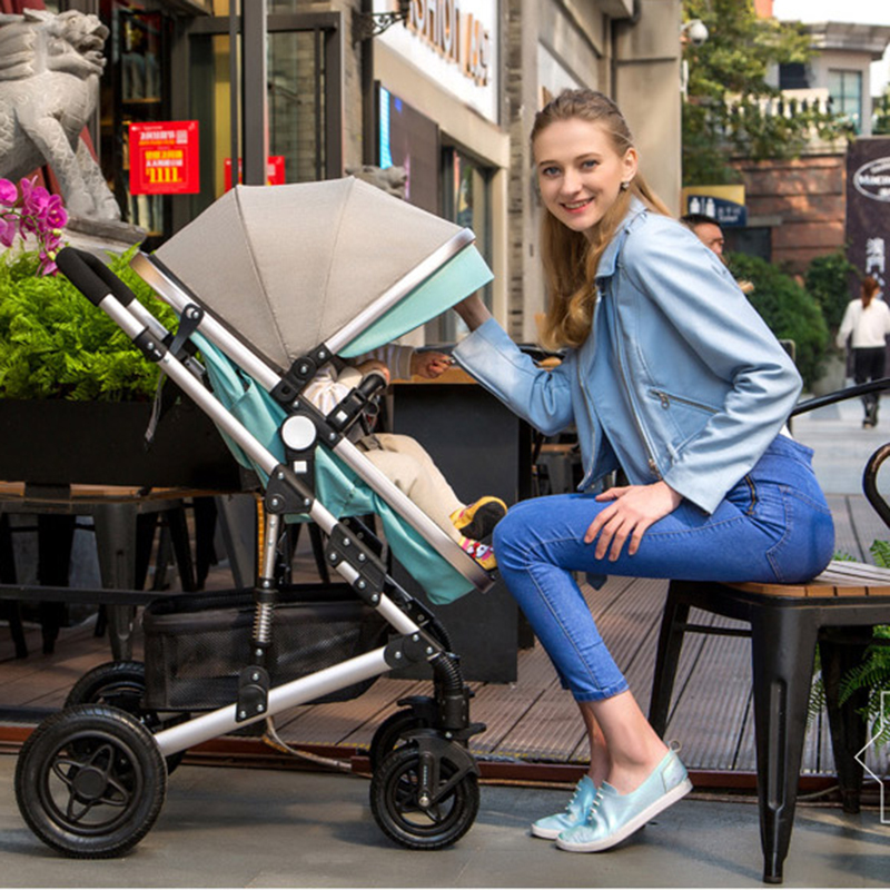 Baby Stroller High Landscape Trolley Baby Car Wheelchair 2 in 1 Prams For Newborns Baby Portable Bassinet Folding Baby Carriage