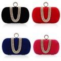 Fashion Women Chains Full Rhinestone Clutch Luxury Imitation Diamond Evening Clutches Party Bag