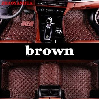 ZHAOYANHUASpecial custom made car floor mats for Toyota Corolla RAV4 Prius Prado Sienna zelas leather Anti-slip  carpet liner