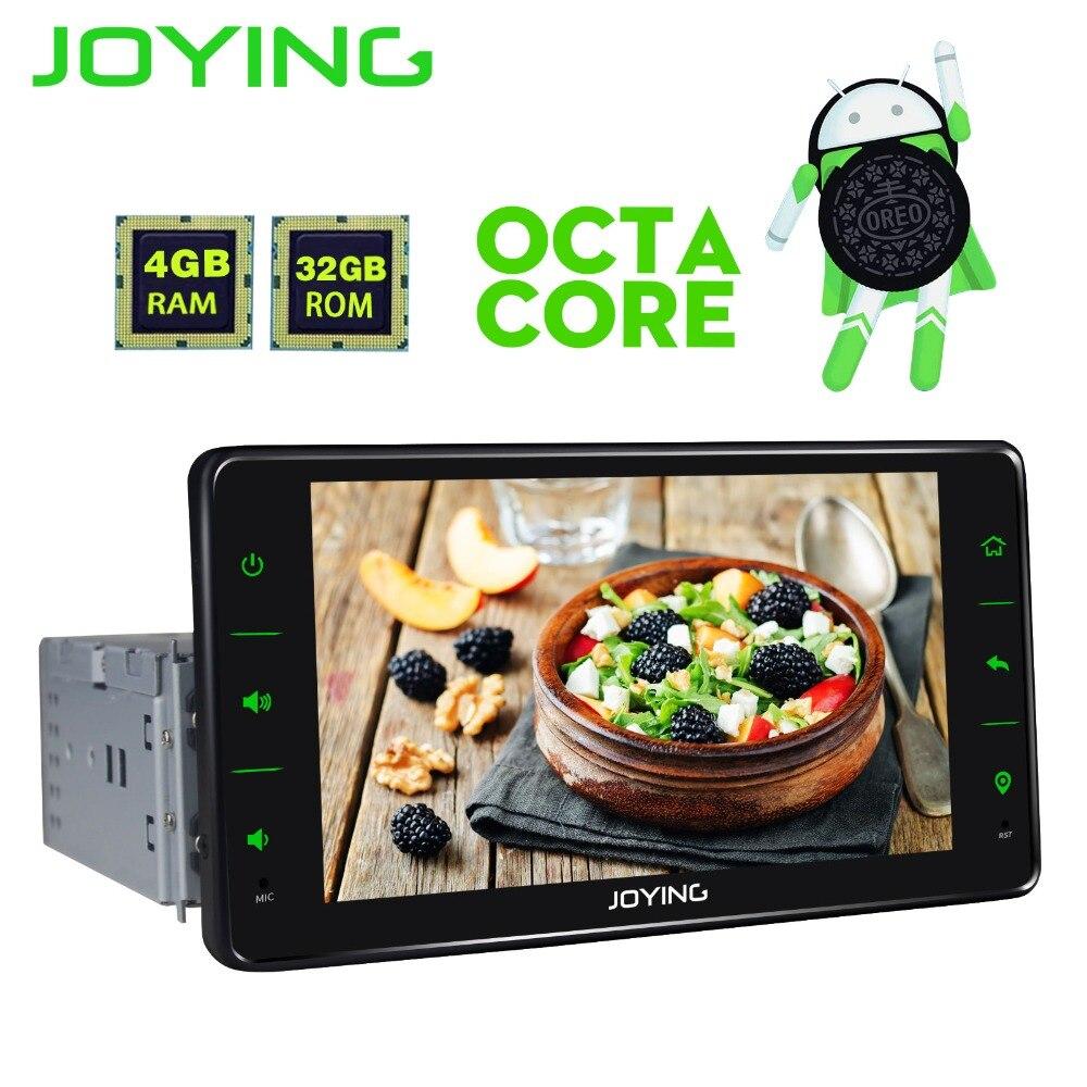 6.2 Joying Unique 1 Din Octa Core Universel Android De Voiture Stéréo Radio Audio Multimédia Lecteur Cône Enregistreur Tête Unité cam Dash