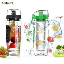 BPA Free Fruit Water Bottle Fruit Infuser Juice Sports Lemon