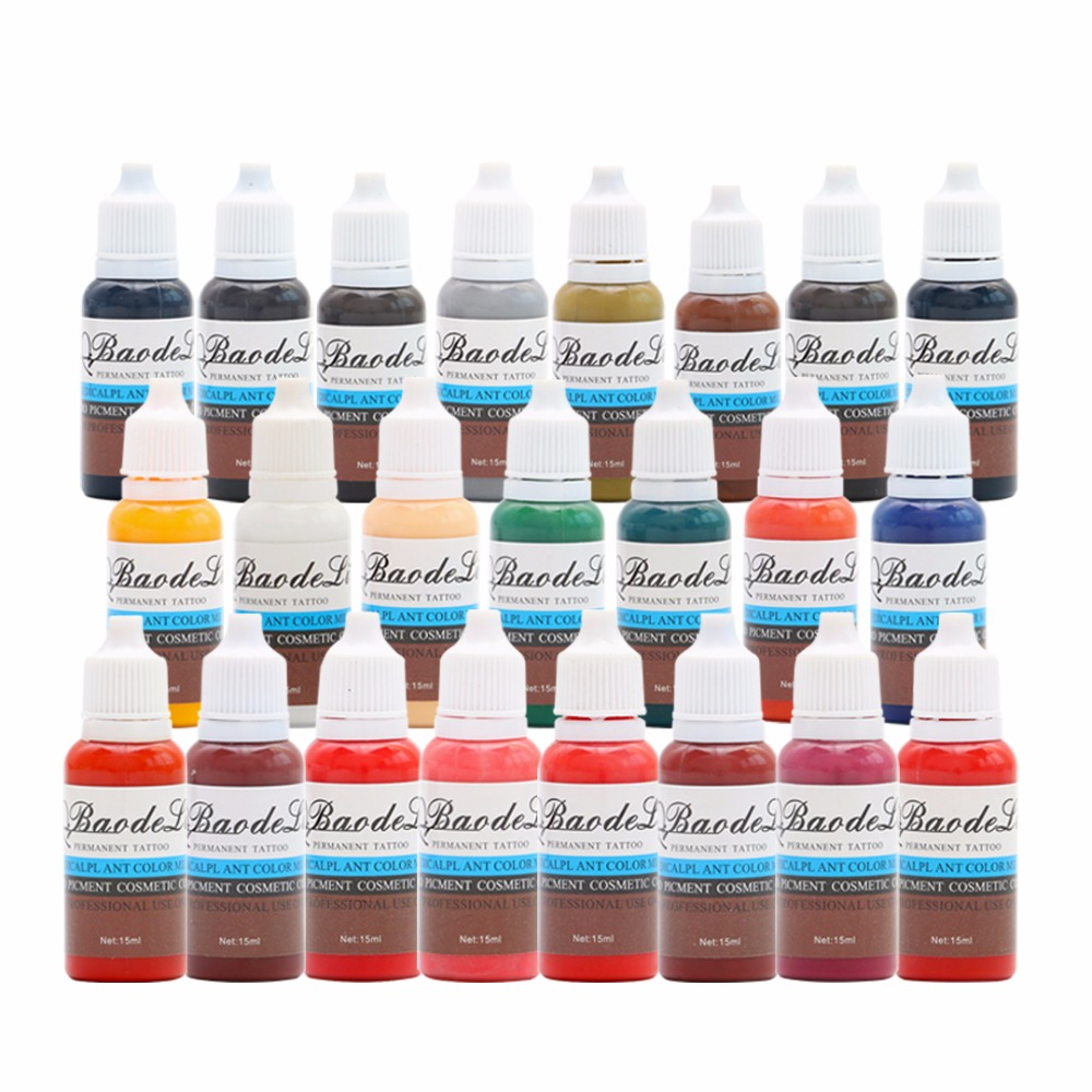 New Professional Tattoo Ink Permanent Makeup Pigments 3d Makeup Beauty Eyebrown Tattoo Paint Tattoo Color
