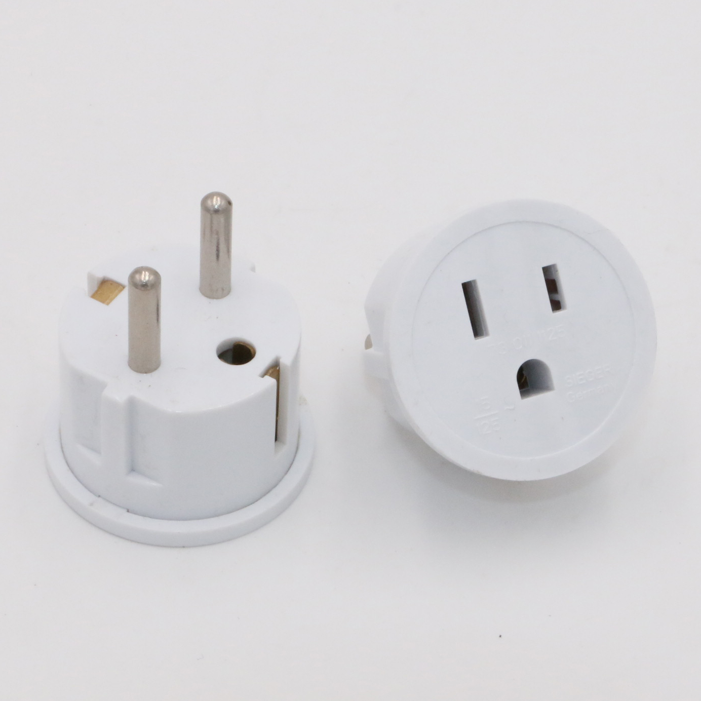 Grounded Shucko Plug Adapter For USA/Asia To Europe/Germany